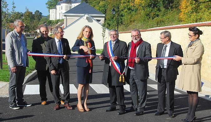 Inauguration de l'Allée du Val Robinson