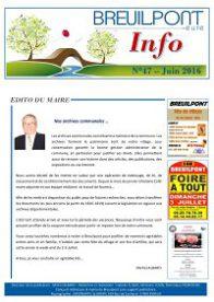 Breuilpont Info Num 47 Juin 2016