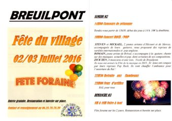 flyer Fete du village