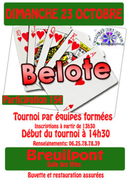 belote OCTOBRE