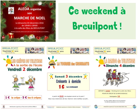 Ce weekend à Breuilpont …