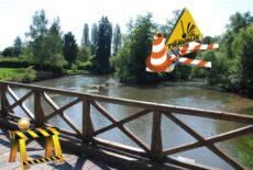Fermeture du Pont d'Arcole pour travaux