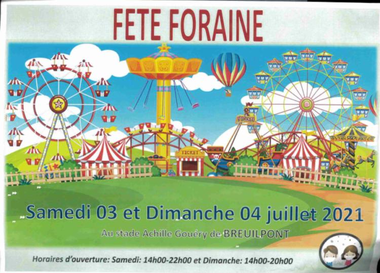 Fête foraine le 1er week-end de juillet à Breuilpont !